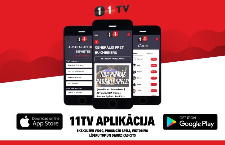 JAUNUMS! Superīgā 11TV aplikācija tagad tavā viedtelefonā!
